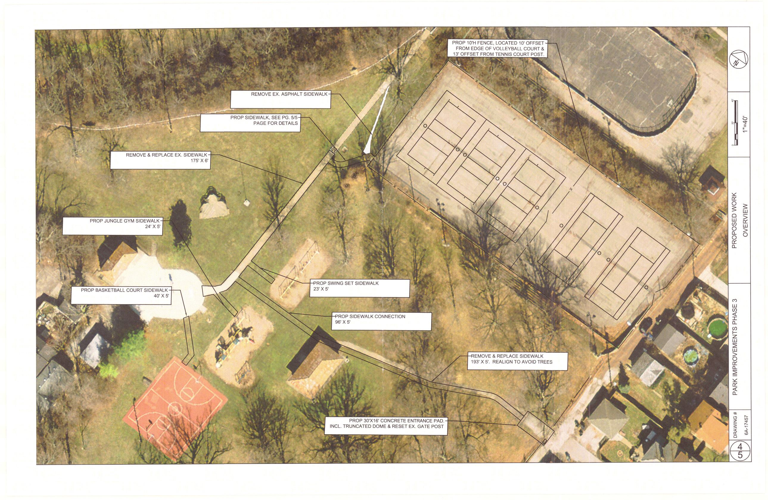 Map with proposed Walnut Hills park improvements