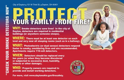 Protect Your Family From Fire Postcard